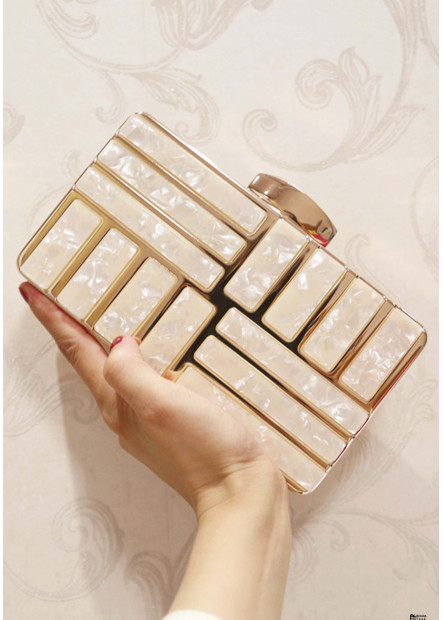 The Latest Trend Personality Square Acrylic Evening Handbags