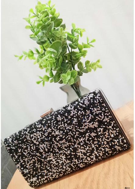 High-Grade Shiny Rhinestone One Shoulder Diagonal Handbags