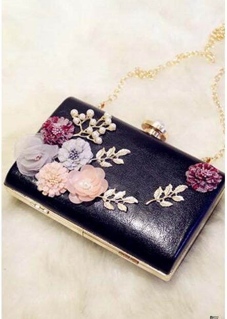 PU Small Square Bag Soft Face Popular Lock Handbags