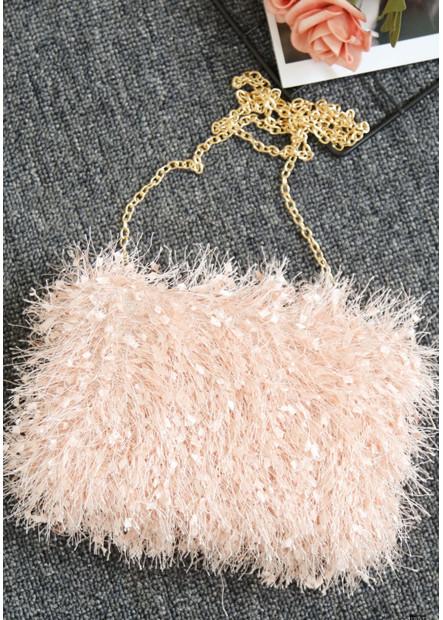 Fur Fashion Tassel Banquet One Shoulder Handbags