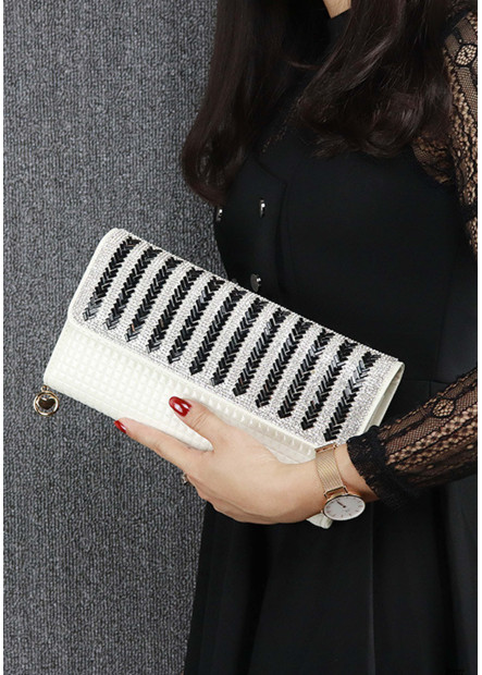New Striped Diamond One Shoulder Slung Handbags