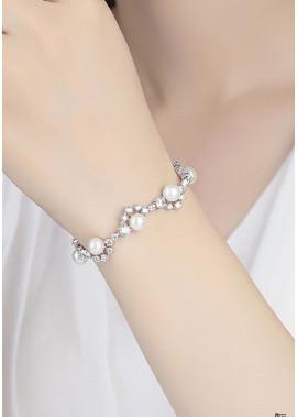 Pearl Rhinestone Bracelets