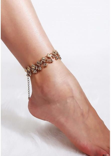 Water Droplet Tassel Anklets