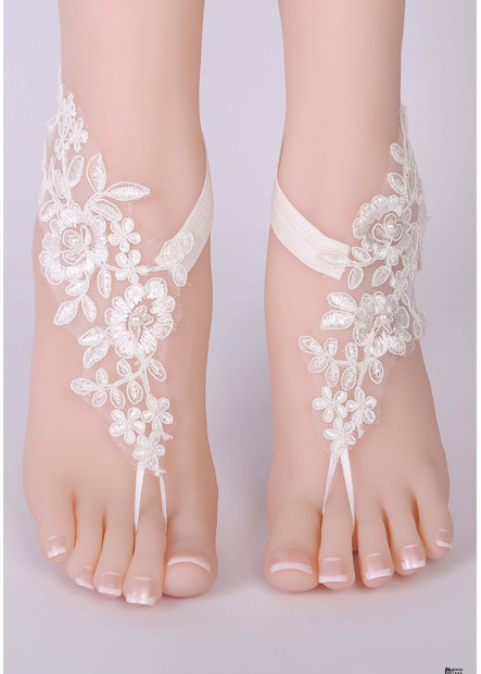 Lace Embroidered Anklets