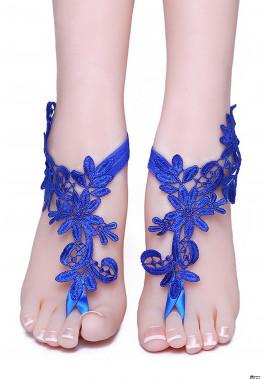 Blue Lace Anklets