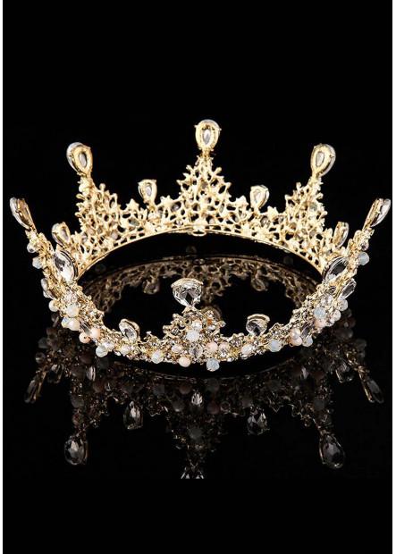 Round Diamond Bride Tiaras