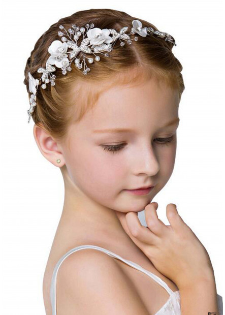 Flower Girl Wedding Pearl Headbands