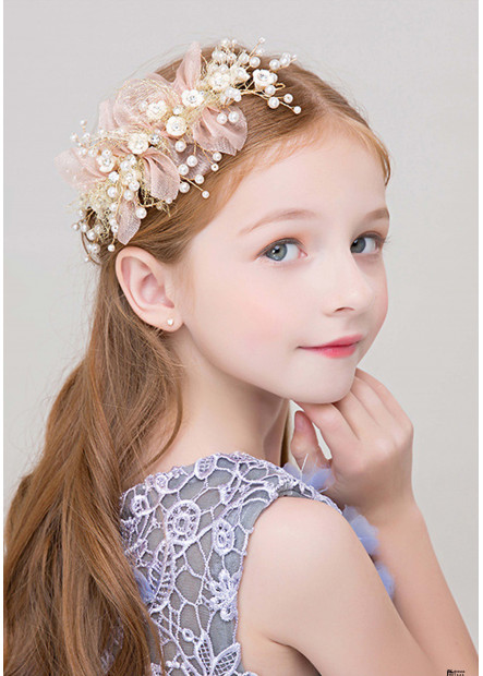 Eye-Catching Pearl Flower Girl Tiaras Headbands