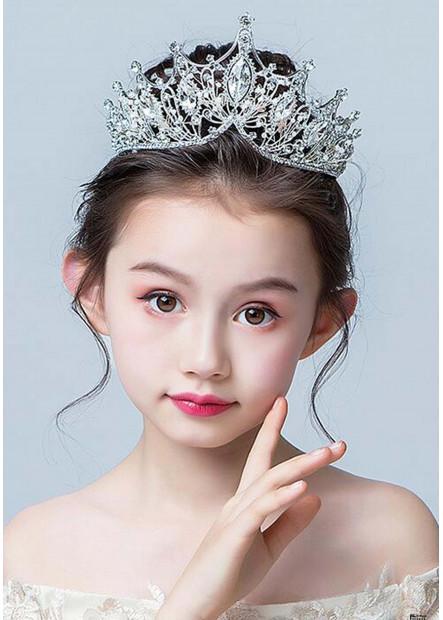 White Crystal Pearl Tiaras