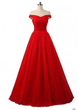 One Shoulder Wedding Gown Evening Dresses
