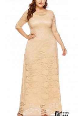 Half Sleeve Pocket Casual Plus Size Lace Dress