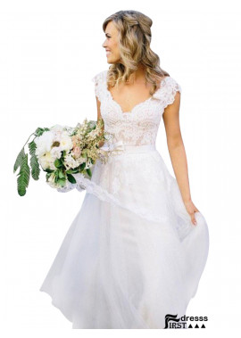 Firstdresss 2021 Lace Wedding Dress With Cap Sleeves