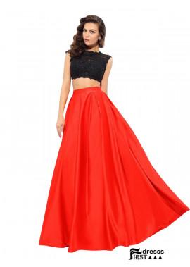 Firstdresss Sexy Two Piece Long Prom Evening Dress