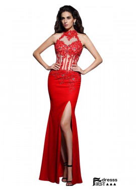 Firstdresss Sexy Mermaid Prom Evening Dress
