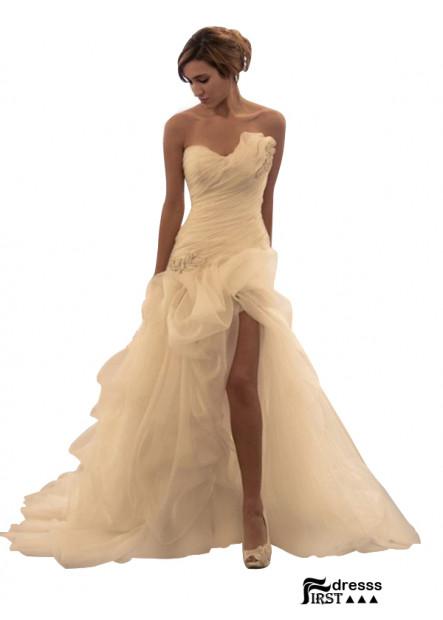 Firstdresss 2021 Beach Short Wedding Ball Gowns