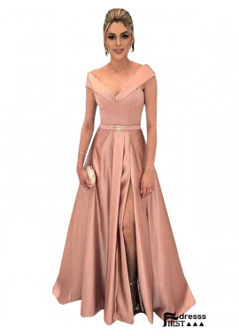 Firstdresss 2019 V Neck A Line Long Prom Evening Dresses Onlne Sale