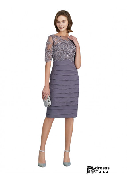 Firstdresss Mini Mother Of The Bride Dresses With Sleeves