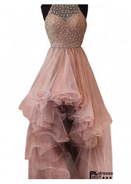Firstdresss High Low Long Prom Evening Dress