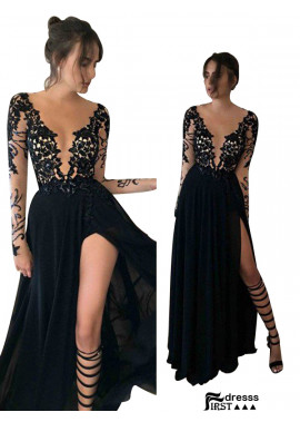 Firstdresss Sexy Long Prom Evening Dress