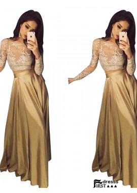 Firstdresss Two Piece Long Prom Evening Dress