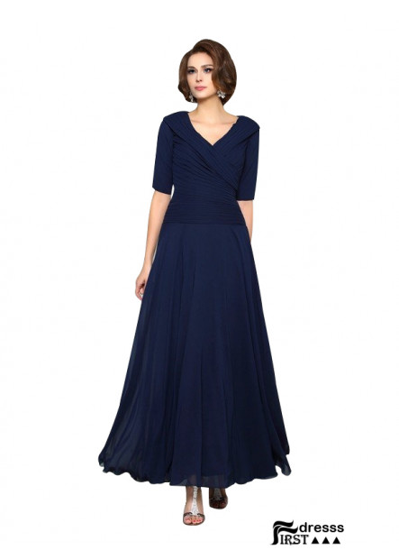 Cheap Navy Mother Of The Bride Dresses With V Neck