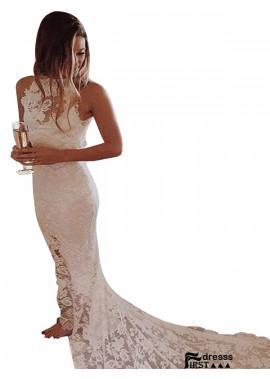 Firstdresss 2021 Halter Neck Lace Wedding Dresses US