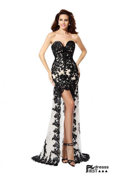 Firstdresss Sexy High Low Prom Evening Dress