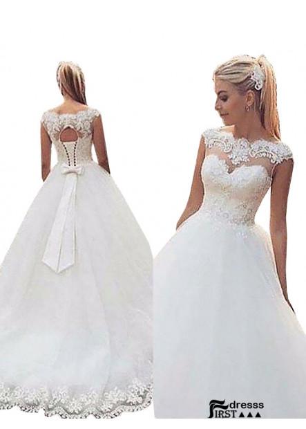 Firstdresss 2021 Ball Gowns Wedding Dress With Bow