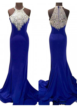 Firstdresss Mermaid Long Prom Evening Dress