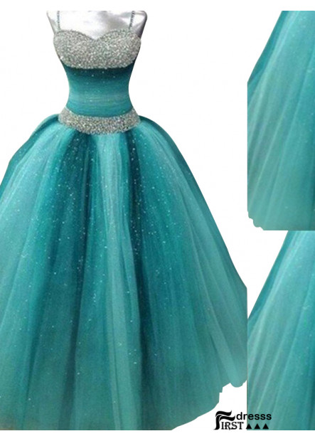 Firstdresss Long Prom Evening Dress Ball Gown