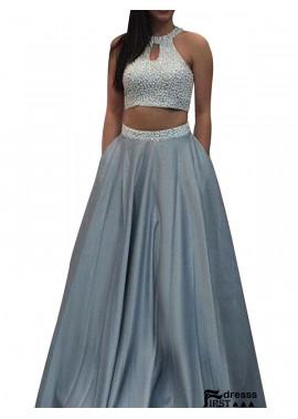 Firstdresss Two Piece Long Prom Evening Dress
