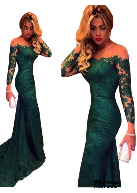 Firstdresss 2021 Mermaid Long Formal Evening Dresses With Sweep Train