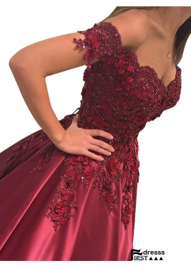 Firstdresss 2020 Burgundy Long Prom Evening Dresses And Gowns