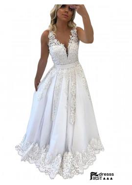 Firstdresss V Neck Long Prom Evening Dress