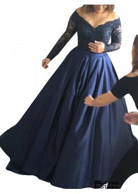 Firstdresss Long Sleeve Lace Long Prom Evening Dress