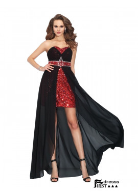 Firstdresss Sexy High Low Prom Evening Dress