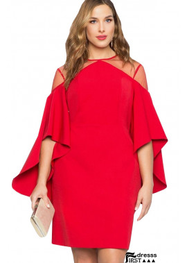 Flare Sleeve Mesh Sexy Bodycon Plus Size Dress