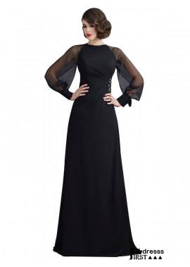 Firstdresss Black A Line Long Formal Evening Dress For Women