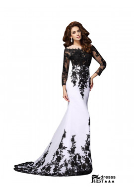 Firstdresss 2020 Long Prom Evening Dresses ForWomen With Sleeves