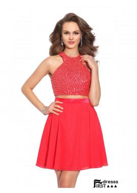 Firstdresss 2 Piece Short Homecoming Prom Dress