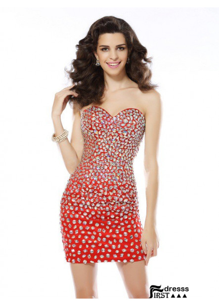 Firstdresss Sexy Short Homecoming Prom Evening Dress