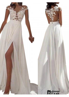 Firstdresss Sexy 2020 White Summer Beach Beach Long Wedding  / Evening Dresses