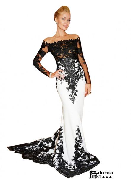Firstdresss Mermaid Long Prom Evening Dress