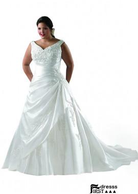 Firstdresss Plus Size Wedding Dress For Fat Women