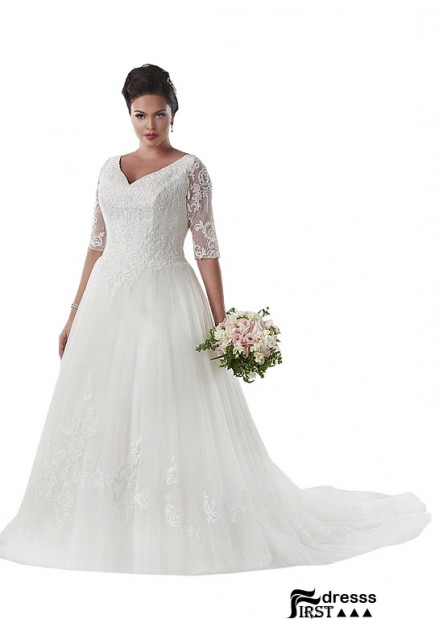 Firstdresss Plus Size Women Wedding Dress US