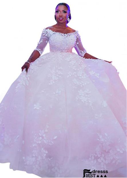 Firstdresss Plus Size Wedding Gown