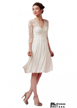 Firstdresss Short A Line Wedding Dresses With Sleeves