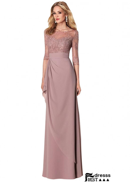 Firstdresss Long Cheap Mother Dress With Sleeves For Wedding