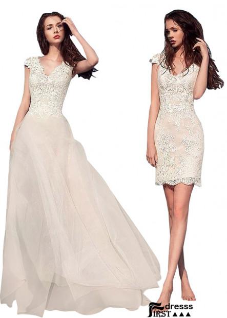 Firstdresss Beach Wedding Dresses Long and Short