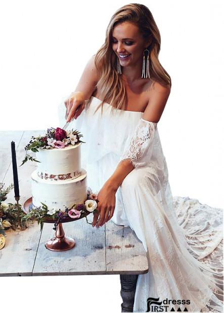 Firstdresss Beach Wedding Dresses Off The Shoulder